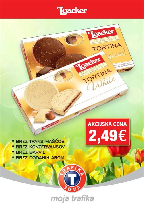 Loacker tortina v original ali white izvedbi